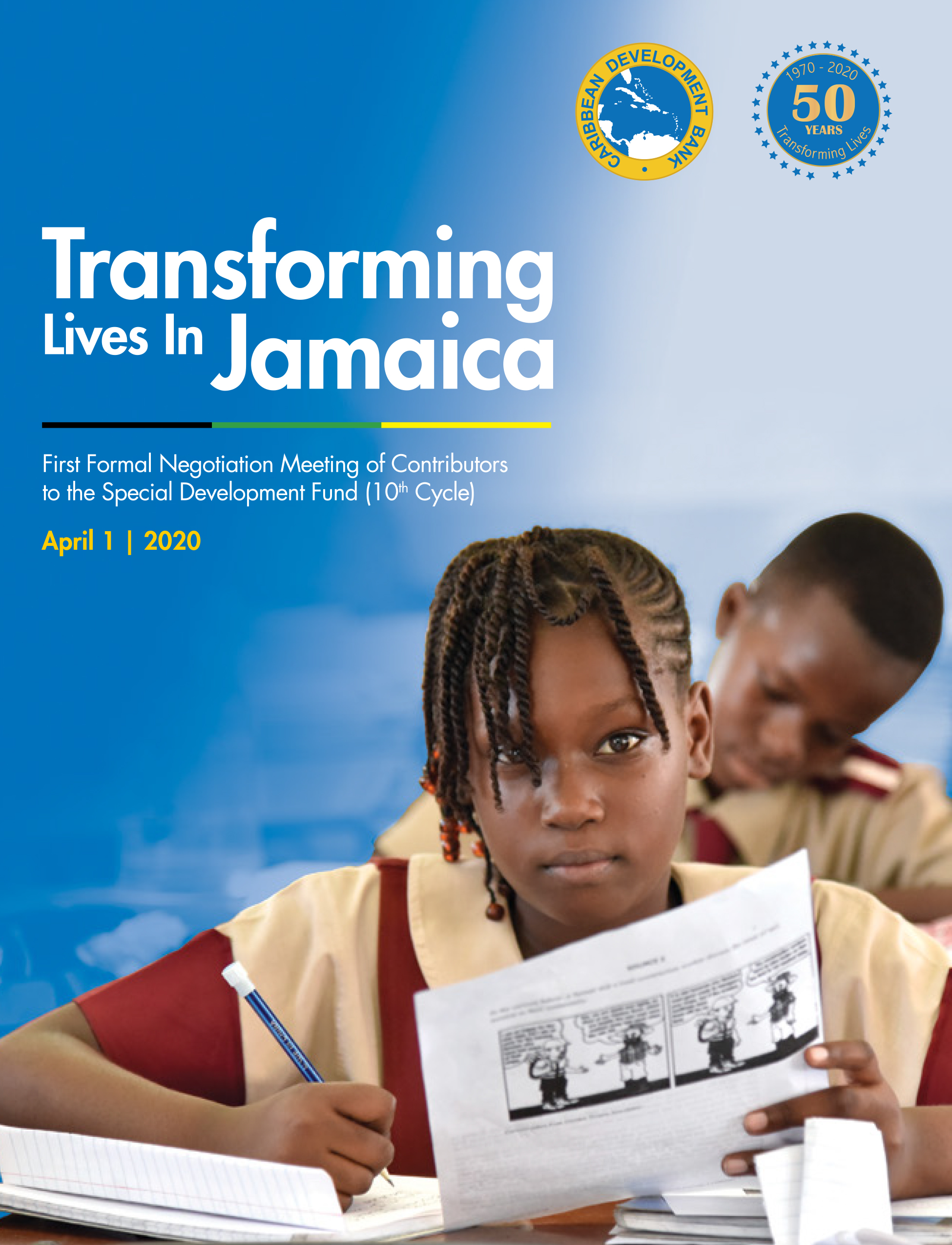 The booklet (mobile-friendly for offline reading) provides an overview on CDB Special Development Fund (SDF), the situation in Jamaica, and six stories on projects, implemented by the Basic Needs Trust Fund (BNTF), a programme of the SDF, between 2013 and 2019 in Jamaica.    https://www.caribank.org/sites/default/files/publication-resources/SDF Project Booklet final.pdf